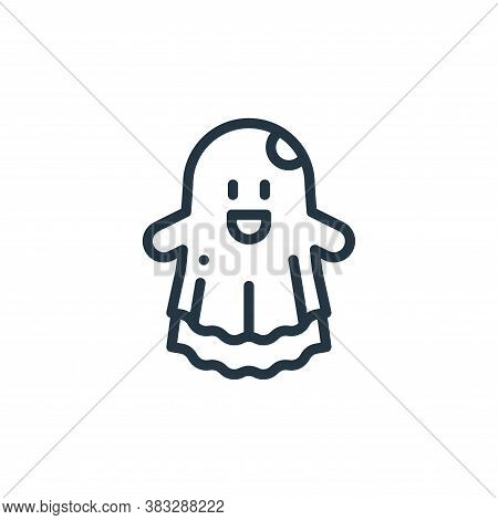 ghost icon isolated on white background from magic collection. ghost icon trendy and modern ghost sy