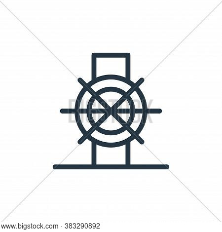 valve icon isolated on white background from water park collection. valve icon trendy and modern val