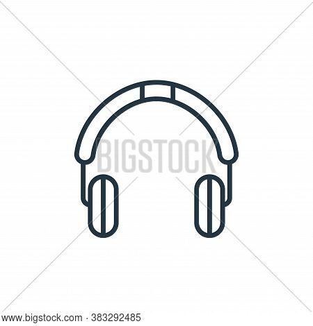 headphone icon isolated on white background from communication collection. headphone icon trendy and
