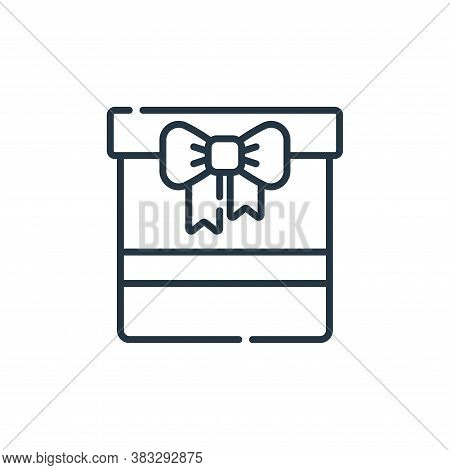 gift icon isolated on white background from event collection. gift icon trendy and modern gift symbo