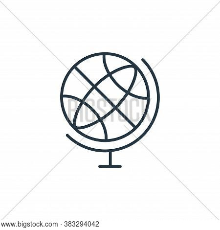 globe icon isolated on white background from communication collection. globe icon trendy and modern