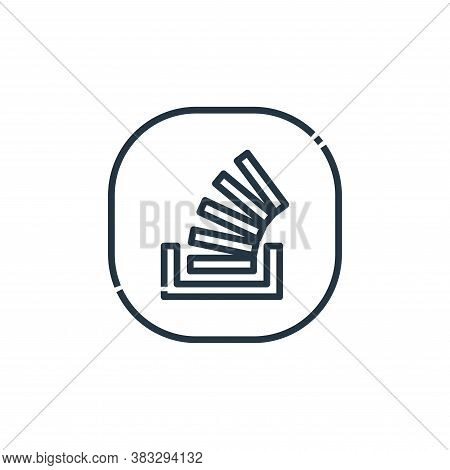 stack overflow icon isolated on white background from social media logos collection. stack overflow