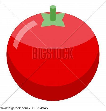 Farm Eco Tomato Icon. Isometric Of Farm Eco Tomato Vector Icon For Web Design Isolated On White Back