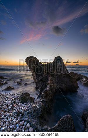 Avali beach at sunset - Lefkas island Greece