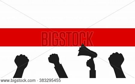 Protest In Belarus. Symbol Of Freedom Belarus. Symbol Of Protest In The Presidential Elections In Be
