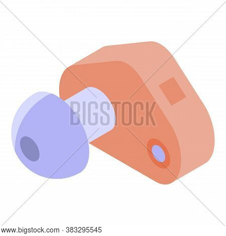 Ear Implant Icon. Isometric Of Ear Implant Vector Icon For Web Design Isolated On White Background