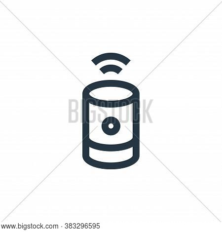 voice assistant icon isolated on white background from futuristic technology collection. voice assis