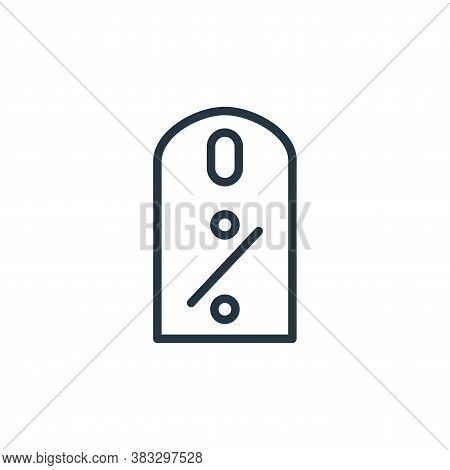 percentage icon isolated on white background from busines and finace collection. percentage icon tre