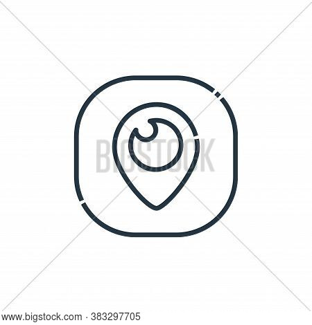 periscope icon isolated on white background from social media logos collection. periscope icon trend