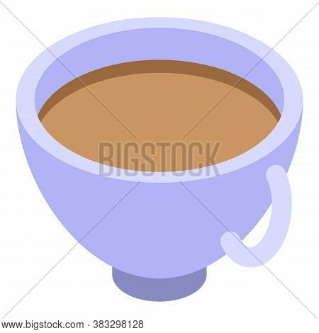 Detox Coffee Cup Icon. Isometric Of Detox Coffee Cup Vector Icon For Web Design Isolated On White Ba