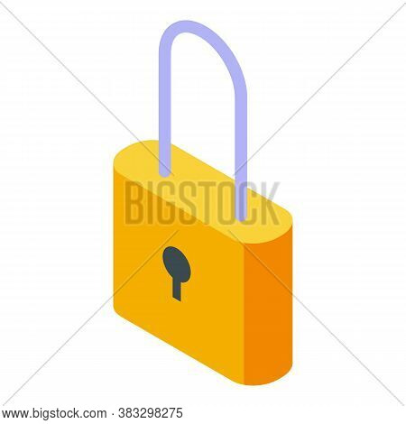 Digital Detoxing Padlock Icon. Isometric Of Digital Detoxing Padlock Vector Icon For Web Design Isol
