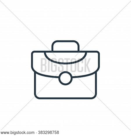 briefcase icon isolated on white background from law collection. briefcase icon trendy and modern br