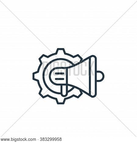 loud speaker icon isolated on white background from labour day collection. loud speaker icon trendy