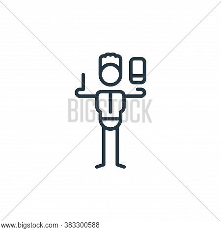 graphic designer icon isolated on white background from graphic design collection. graphic designer