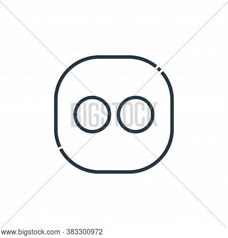 flickr icon isolated on white background from social media logos collection. flickr icon trendy and