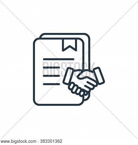 agreement icon isolated on white background from law collection. agreement icon trendy and modern ag