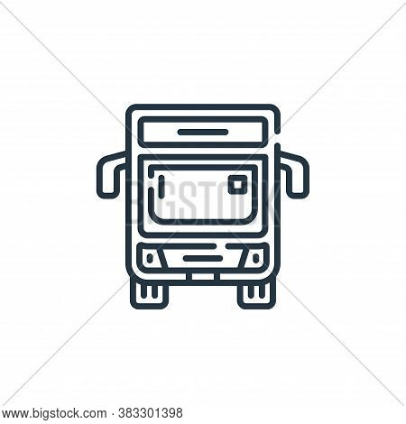 bus icon isolated on white background from public services collection. bus icon trendy and modern bu