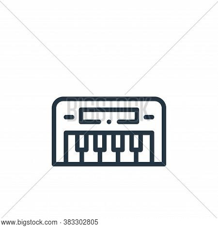 keyboard icon isolated on white background from music collection. keyboard icon trendy and modern ke