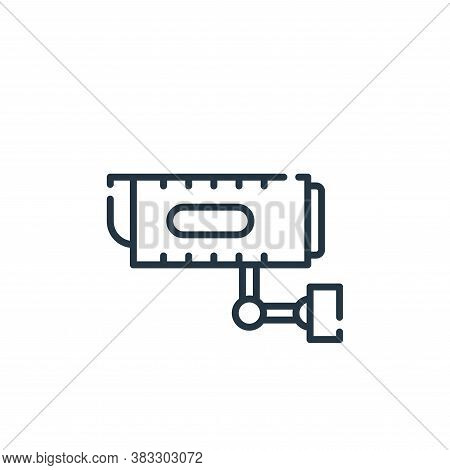 cctv icon isolated on white background from auction collection. cctv icon trendy and modern cctv sym
