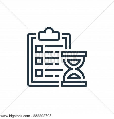 schedule icon isolated on white background from business collection. schedule icon trendy and modern