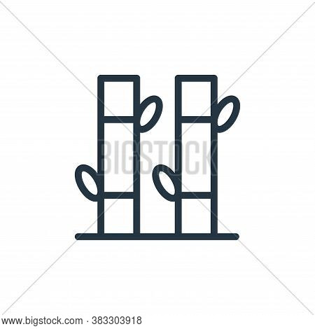 bamboo icon isolated on white background from beauty salon collection. bamboo icon trendy and modern
