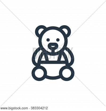 teddy bear icon isolated on white background from baby shower collection. teddy bear icon trendy and