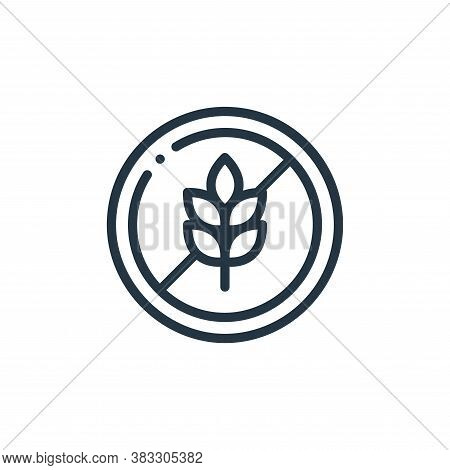 gluten free icon isolated on white background from nutrition collection. gluten free icon trendy and