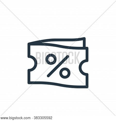 coupon icon isolated on white background from ecommerce line collection. coupon icon trendy and mode