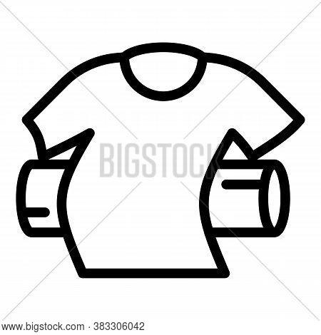 Softener Tshirt Icon. Outline Softener Tshirt Vector Icon For Web Design Isolated On White Backgroun