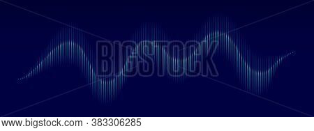 Sound Wave Background. Vector Music Frequency Bar. Abstract Audio Sound Wave Pattern. Music Pulse Ba