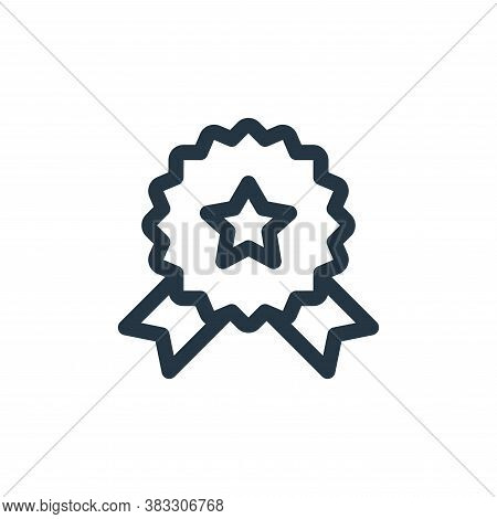 medal icon isolated on white background from voting elections collection. medal icon trendy and mode