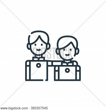 best friends icon isolated on white background from friendship collection. best friends icon trendy