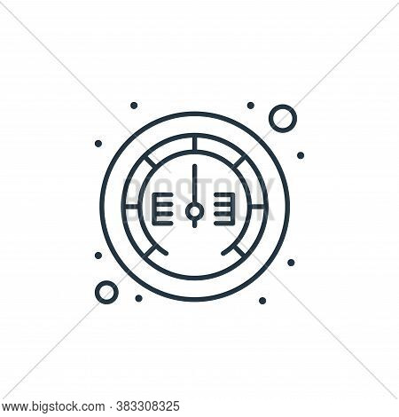 gauge icon isolated on white background from web hosting collection. gauge icon trendy and modern ga