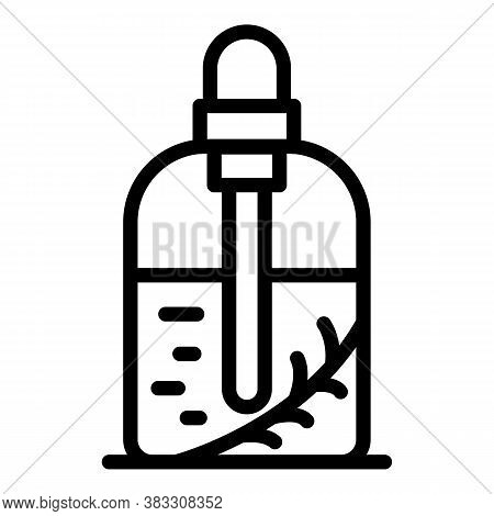 Perfume Essential Oil Icon. Outline Perfume Essential Oil Vector Icon For Web Design Isolated On Whi