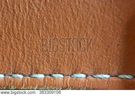 Extreme close up shot of genuine leather for background use