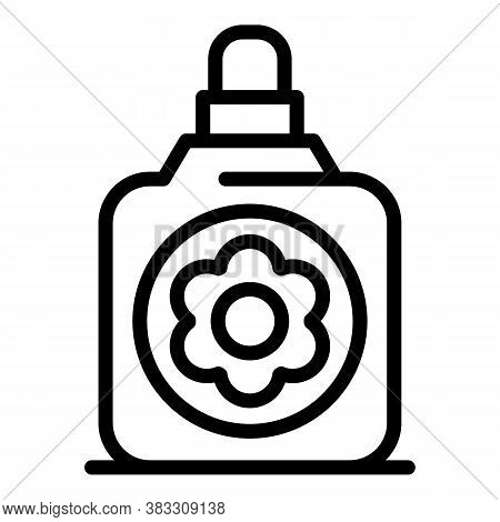 Bottle Essential Oils Icon. Outline Bottle Essential Oils Vector Icon For Web Design Isolated On Whi