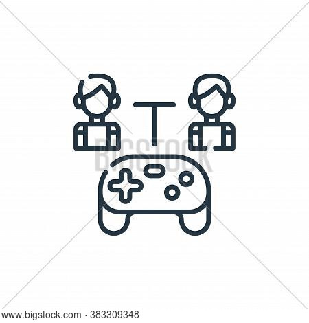 gaming icon isolated on white background from friendship collection. gaming icon trendy and modern g