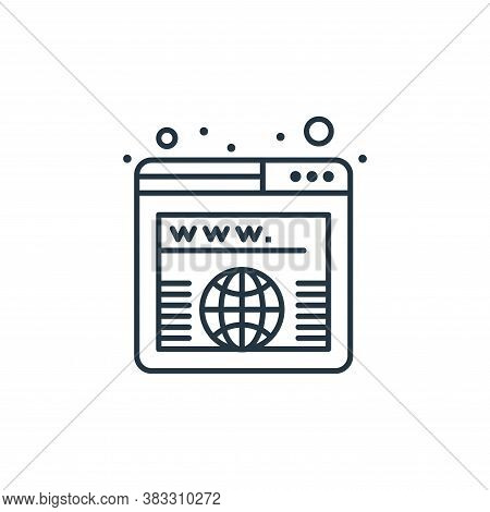 worldwide icon isolated on white background from seo collection. worldwide icon trendy and modern wo