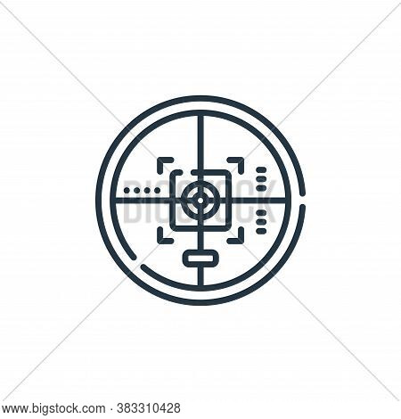 target icon isolated on white background from esports collection. target icon trendy and modern targ