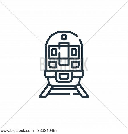 train icon isolated on white background from public services collection. train icon trendy and moder