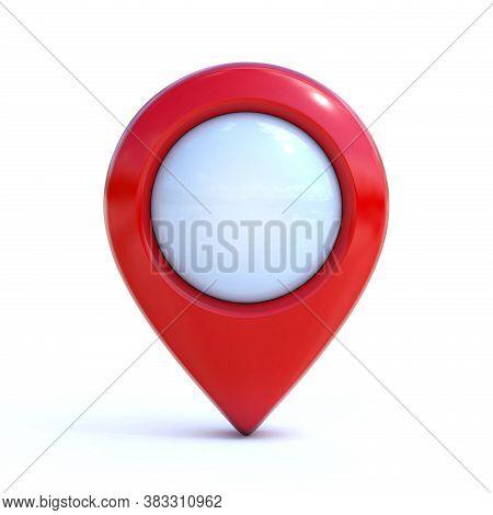 Map Pointer, Mark, Pin, Marker 3d Rendering