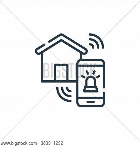 alarm icon isolated on white background from smarthome collection. alarm icon trendy and modern alar