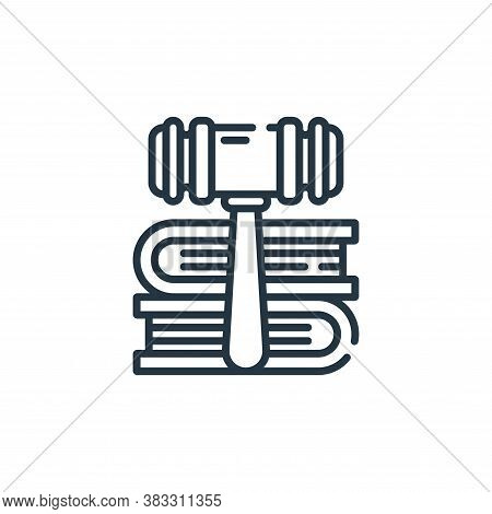 law icon isolated on white background from public services collection. law icon trendy and modern la