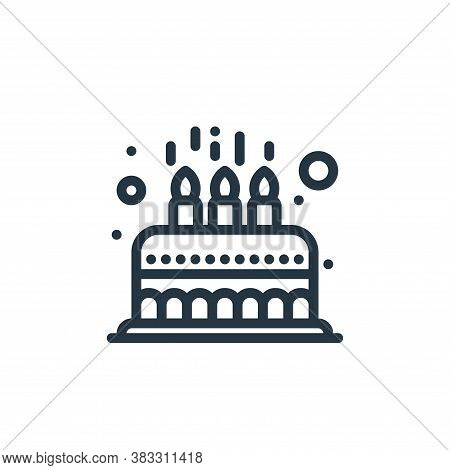 cake icon isolated on white background from baby shower collection. cake icon trendy and modern cake