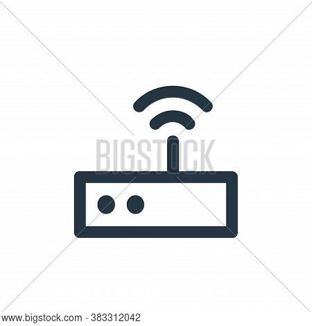 router icon isolated on white background from business and management collection. router icon trendy