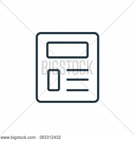 newspaper icon isolated on white background from communication collection. newspaper icon trendy and