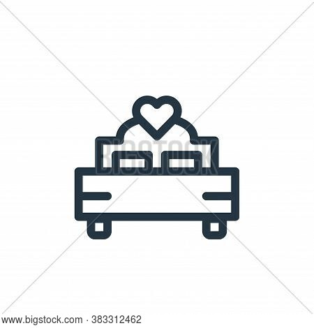 bed icon isolated on white background from valentines day collection. bed icon trendy and modern bed