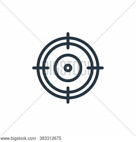 aim icon isolated on white background from sports collection. aim icon trendy and modern aim symbol