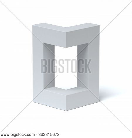 Isometric Font 3d Rendering Number 0, Three Dimensional Object