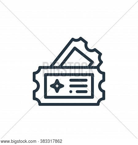 tickets icon isolated on white background from magic collection. tickets icon trendy and modern tick
